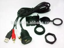 Car Dash Mount Installation USB/Aux RCA Accessory Extension car audio Cable USBAUX-2RCA for car