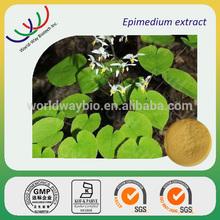 NATURAL herb medicine ingredient epimedium extract powder,10%~98% Icariin,improve sexy ability barrenwort extract