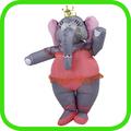 2014 nuevo tema girl elefante inflable traje de elefante