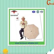 23 Inches Windproof Old Man Stick Straight Umbrella UV Protection Umbrella