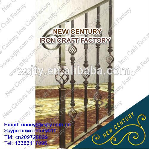 wrought iron exterior stair rail designs / aluminium stair handrail models