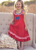 Latest Design Wholesale Fancy Girls Party Dresses Boutique Solid Cotton Sleeveless Dresses Baby Frocks