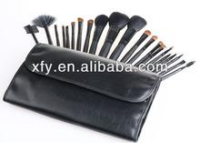 HOT New 21 PCS MAKEUP ARTIST BRUSH SET ROLLUP BAG - Black/Makeup Brush