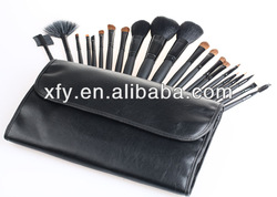 HOT New 21 PCS MAKEUP ARTIST BRUSH SET ROLLUP BAG - Black/Makeup Brush