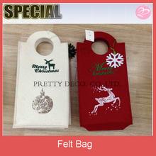 Newest type for die cut cheap christmas felt bag