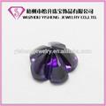 forma di fiore ingrosso vetro pietra viola prugna fiore genstone