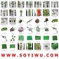 Instock apuramento& freesamples& guirlanda de flores naturais do mercado de yiwu para flores artificiais& frutas