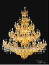2014 most popular gold fork crystal chandelier for 5 star hotel