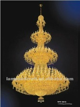 chandelier lighting with three layers classical gold chandelier