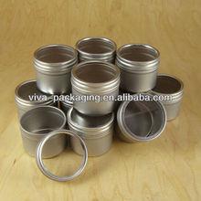 Deep Round Metal tin box with window