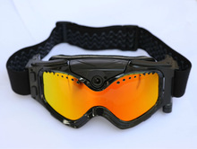 HD 720P ski goggles camera, black/ white frame, colorful lens