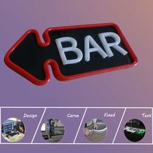Acrylic board Frontgate led neon sign for bar open, #Shanghai Liyu-12V-BarSign