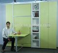 verticale mobili camera da letto singolo in legno muro letto murphy con tavolo da pranzo