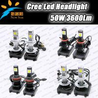 Hight Power 50W Car Auto LED Head Light Lamp H1 H3 H4 H7 H8 H9 H13 H16 9004 9005 9006 9007 Bulb 50W C REE Chips 1800Lm