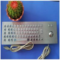 industrial rugged keyboard with trackball