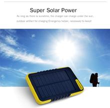 2014 new design Portable extra-thin 5000 mAh Solar Power Bank Waterproof Power Bank