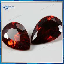 Beautiful Gems stone Wuzhou Garnet CZ Decorative Gems Pear Shaped Gem Buyers in China