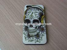 For iphone5/5S Ed hardy TPU IMD Skull case Skeleton case ghost case