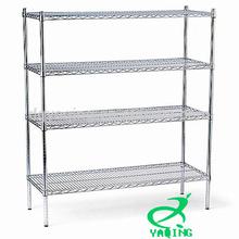 4-tier chrome wire shelving