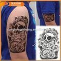 Gato etiqueta engomada del tatuaje, rock del ojo del tatuaje, diseño de la rana