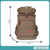 Fashion Large Capacity Men's Rucksack School Bag Canvas Backpack