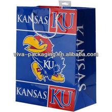 Kansas Jayhawks personalized wine gift bags