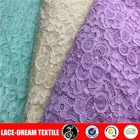 Comfortable and elegant 3D spandex lace with knitting fabric
