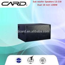 "dual 18"" intch 1200W high power dj dancing speaker"