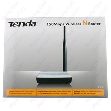 English version wireless router wifi Tenda N3 home network WDS mode range extender 150Mbps 2 ports 802.11b/g/n RJ45 5Dbi antenna