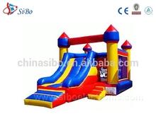 IC0026 [SiBo] Jumping Castle Inflatable Princess Bouncer Moonwalk With Princess Theme