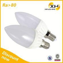 Small E27/ E14 Led Candle Lights/Candle Lamp Led E14/Led 3 Watt Candle Bulb