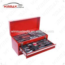 WINMAX 82 pcs Metric Spanner Wrench Socket Rachet Mechanic Car Repair Kit Tool Box Set WT01304