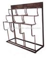 3-tier zincado de um lado só roupas estante / rack de vestuário