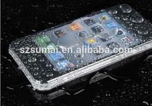 IPX8 TPU waterproof skin case for iphone 4 waterproof peach skin