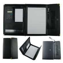 A4 Multifunction Leather Business Portfolio with Calculator