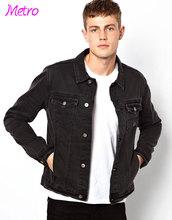 100% cotton denim quilted denim jackets