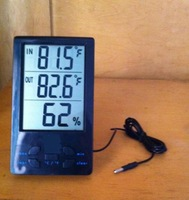 ABS Digital LCD Indoor Outdoor Thermometer with Cable