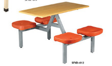 simple school eating table made in china with steel frame plastic table
