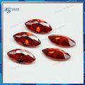 3 x 6 mm Garnet marquise forma cz cubic zirconia gemstone indonésia importadores / pedra preciosa vermelha nomes