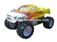 1:5 escala de controle remoto de rádio do carro modelo, 4wd gás powered monster truck