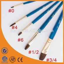 China Professional Hair Brush Set Brass Ferrule Art Supply
