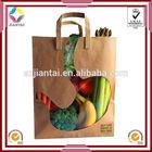 Vegetable bag,food packaging paper bags with window,kraft paper bag with window