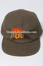 fashion custom waxed cotton 5 panel hats