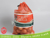 orange polypropylene leno potato label mesh bags with drawstring