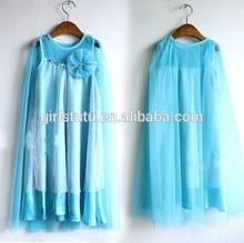 Fashion 2014 Frozen Queen Princess Elsa Child Girl Summer Dress Cotton Casual Girls Puffy Dresses For Kids