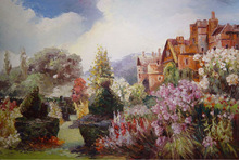 Beautiful landscape & house oil painting for wall art