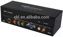 HDMI converter box HDMI input, YPbPr + VGA + RCA R/L + SPDIF output