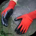 黒13グラムシームレスニット手袋を作業ニトリル/安全手袋/手袋を編んだ