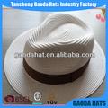 paja de sombrero de paja con sombreros de la cinta para la venta