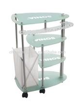 Organic Glass Beauty Salon Trolley Company HZ-977